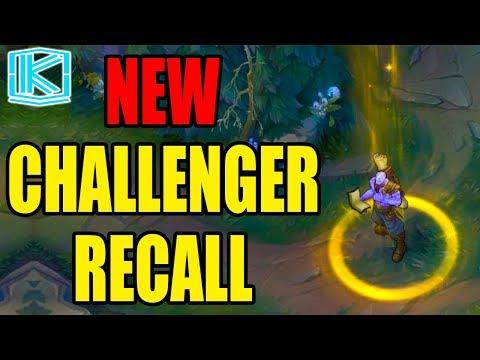 NEW CHALLENGER RECALL VS NORMAL RECALL - League of Legends