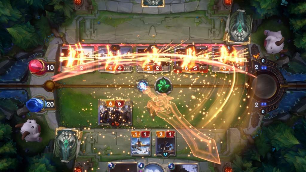 Battle phase in Legends of Runterra