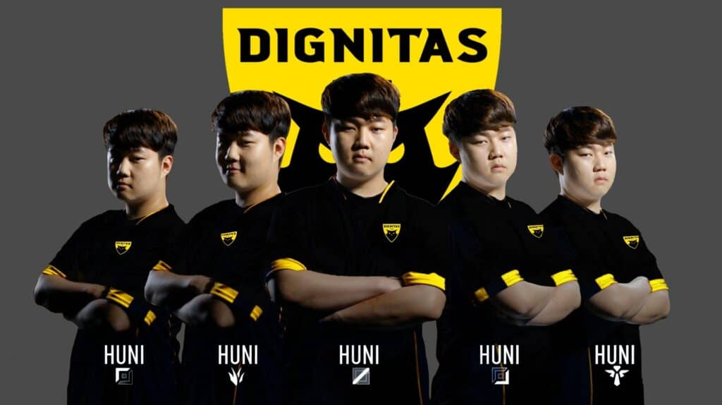 NA LCS 2020 - Dignitas Roster 2020 Consisting of only Huni in all lanes