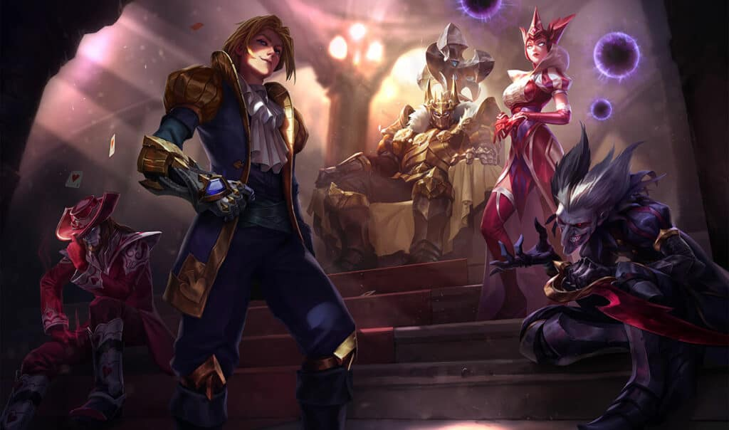 King of Clubs Skins Splash Art in League of Legends.