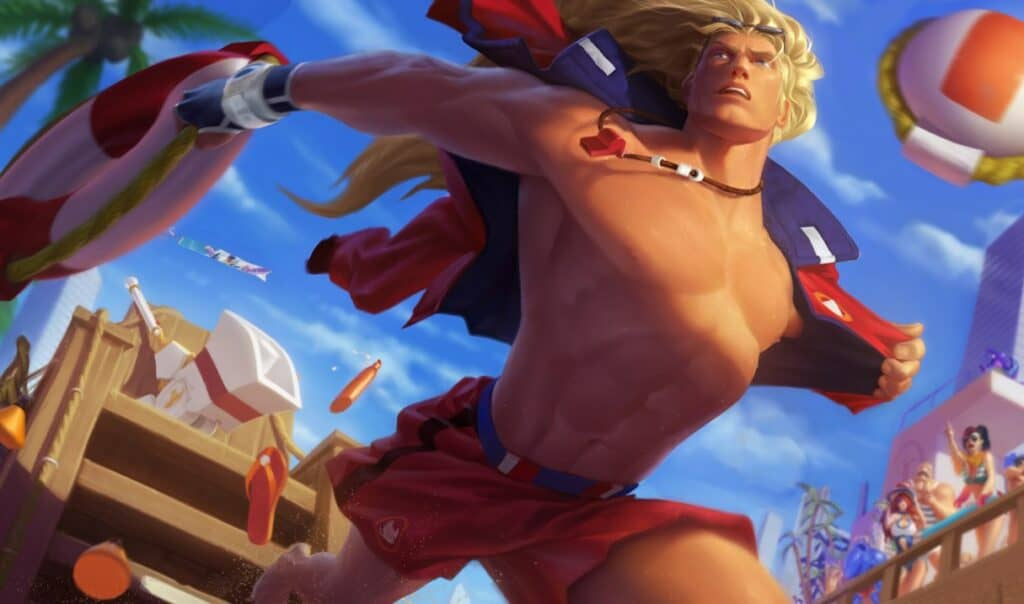 Skin Splash Art for Taric Pool Party League of Legends Skin