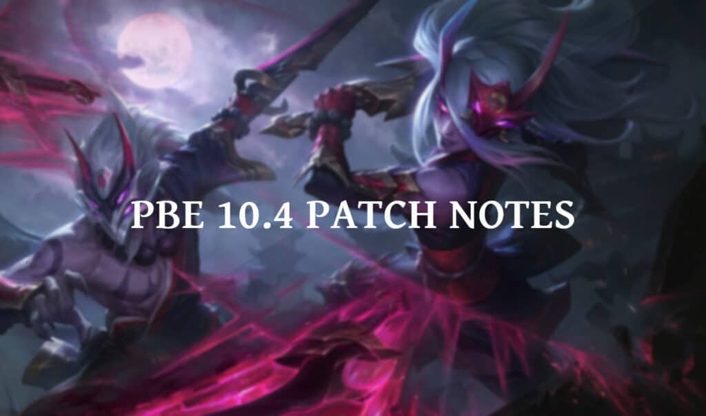Patch 10.4 will introduce a new Katarina skin - Blood Moon Katarina